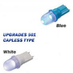 LED 501 Wedge: Side Parking Lamp Bulbs (1xPair) White Or Blue. T2700210